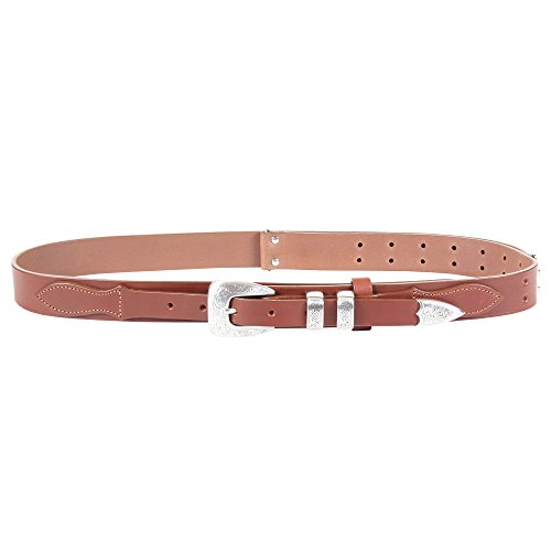 Brown Leather Mens Ranger Belt Adjustable No. 2 Nickel Buckle Italian Bridle Leather Large USA Made Unique Design