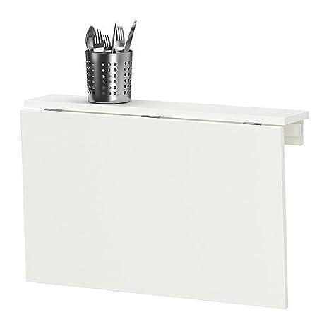 Ikea Mesa de alas abatibles de Pared, Blanco NORBERG 74x60 cm