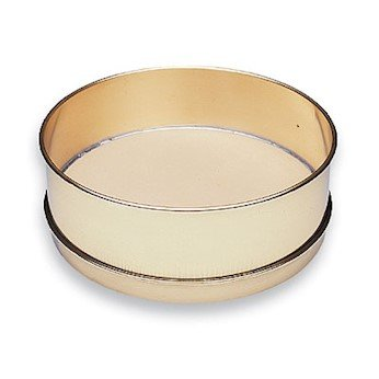 Cole-Parmer Testing Sieve, Brass Frame/SS Wire, 8' OD, Full Height, No. 120 8 OD AO-59940-17