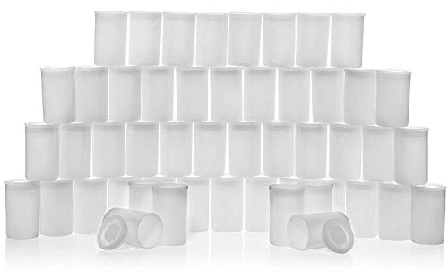Cap Storage Canister - CTKcom 35MM Film Canisters(24 pack)- Tight Sealing Lids on All Canisters for Travel or Small Storage and Geocaching, 24 pack(Clear)