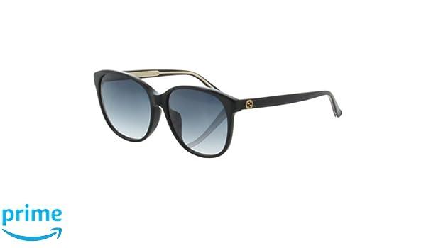 3b2bfba89 GUCCI Fashion Women Sunglasses GG 3854/F/S from Gucci Eyewear. 58 mm. Cat  Eye Black acetate Frame & Gradient Blue Lenses. Non-Polarized Eyeglasses  with UV ...