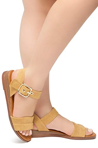 ae89ab85d5a Herstyle Ariella Women s Open Toe Ankle Strap Platform Low Wedge Sandals  Fashion Shoes.