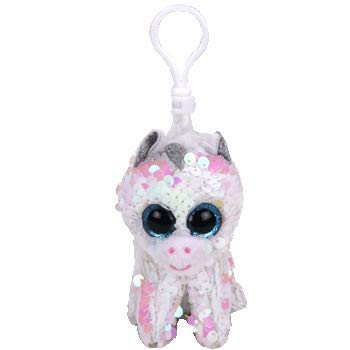 Amazon.com: TY Diamond – Clip de unicornio blanco con ...