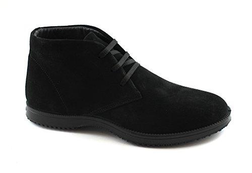 IGI&Co 86951 Sportschuhe Mann Hohe Schwarze Wildleder Ankle Boots Schnürsenkel Nero