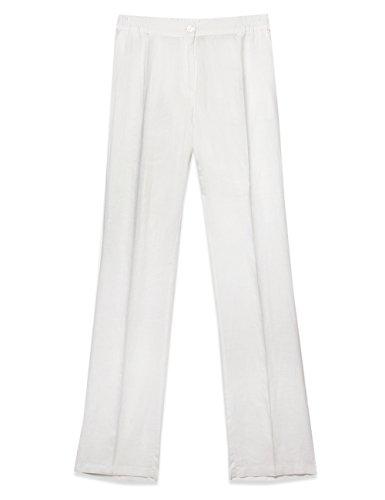 Miro' in Pantaloni puro Elena Bianco dritti lino dZOxtqw