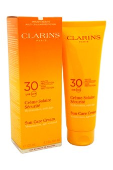 Clarins Sun Care Cream High Protection SPF 30 for Sun-Sensitive Skin, 4.3 Ounce