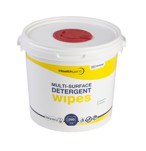 Healthgard Multi-Surface Detergent Wet Wipes Bucket - 4 x 250 Wipes/Pack - 1000 Wipes (Ref: PSCR7262) 365 Healthcare Shermond