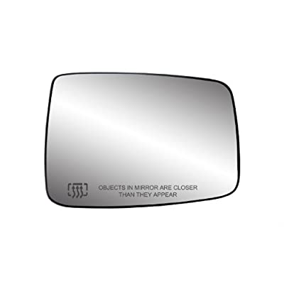 Fit System 30244 Dodge RAM Right Side Heated Power Replacement Mirror Glass with Backing Plate: Automotive