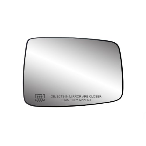 Fit System 30244 Dodge RAM Right Side Heated Power Replacement Mirror Glass with Backing Plate ()