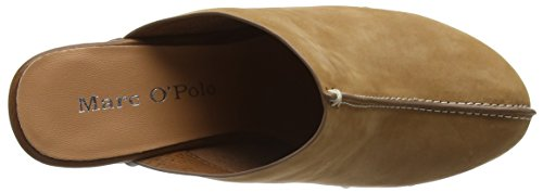 Marc O'Polo Sabot - Sandalias con plataforma Mujer Marrón - Braun (cognac 720)