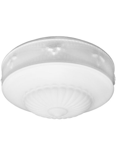 """Decorative Satin Opal Shade With 10"""" Fitter. Antique Lightin"""