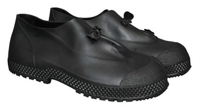 "64055782 4"" PVC Slip-On Over Boots Self-Cleaning Tread Outsole Medium Black"