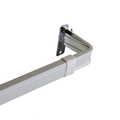 Rod Desyne Lockseam 2-Inch Window Curtain Rod Set