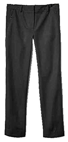 GAP Womens Black Bi-Stretch Slim Crop Zip Pocket Capri Pants 00
