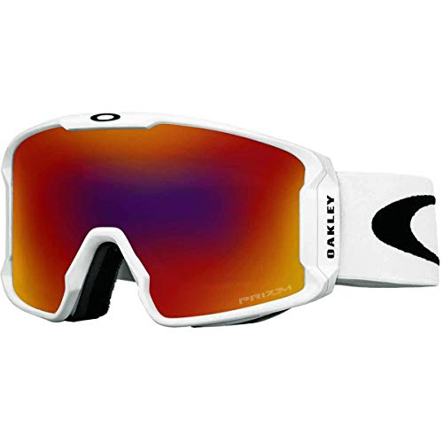 Oakley Line Miner Asian Fit Snow Goggle, Matte White, Medium, Prizm Torch Iridium Lens
