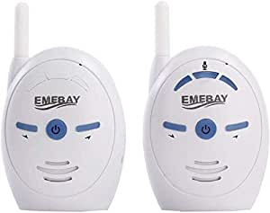 EMEBAY - 2.4GHz Portable Digital Wireless Transmission Voice Baby Monitor Audio with Two-Way Talk Back Feature Infant Signal Function and Vox Function