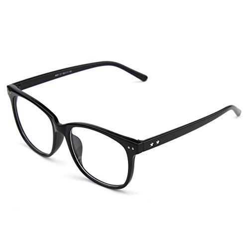 transparentes GQUEEN cadre corne Grand Black surdimensionné PE1 Glossy lunettes clair YwpqYO