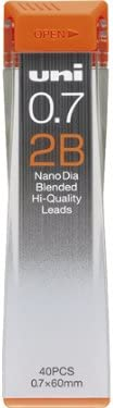 strength /& Deep /& smooth -Uni-ball Extra Fine Diamond Infused Pencil Leads nano Dia 0.7 Mm-2b- 40 Leads X 3 Pack//total 120 Leads