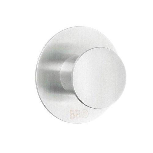 Beslagsboden Single Hook Design Round of Brushed Stainless Steel, Silver, 48 mm