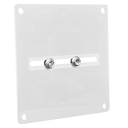Deluxe Replica Wrestling Belt - Figures Toy Company Universal Replica Belt Wall Hanger (White) for Most WWE Replica Belts