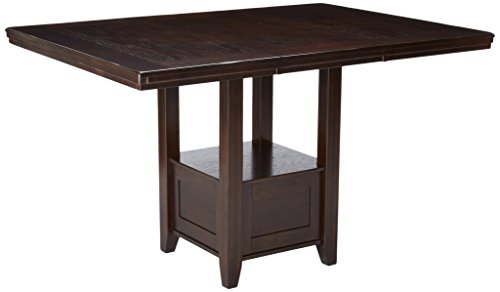 Ashley Furniture Signature Design - Haddigan Dining Room Table - Casual Counter Height Table - Dark Brown