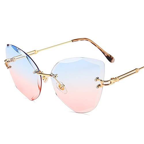 Gafas de de las sin 55m gradiente NIFG de gafas sol sol gafas ojo gato de irregular 136 de brillantes de marco m del 138 G del sol del las color dqq6gHx