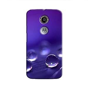 Cover It Up - Purple Drops Moto X2 Hard Case