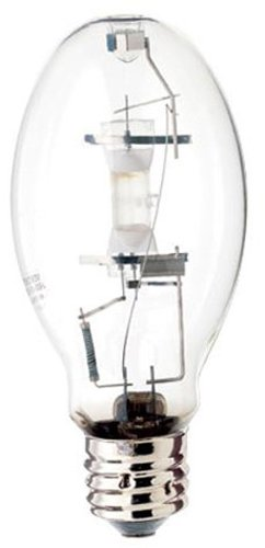 (Satco S5878 4200K 400-Watt Clear Pulse Start Universal Mount Mogul Base ED28 Metal Halide Lamp)
