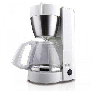 TM Electron Cafetera de jarra con filtro por goteo, capacidad para 10 a 12 tazas, 1,25L, , 800W, color blanco