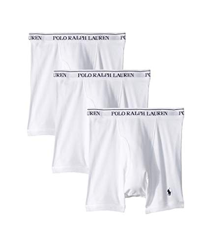 Polo Ralph Lauren Classic Fit 100% Cotton Boxer Briefs - 3 Pack (RCBBP3) 2XL/White
