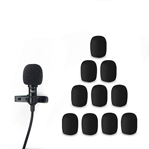 Morfone 10 Pack Lavalier Microphone Windscreen Foam Cover Headset Lapel Mic Mini Windscreen Cover