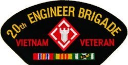 HMC U.S. Army 20th Engineer Brigade Veteran Vietnam Patch...