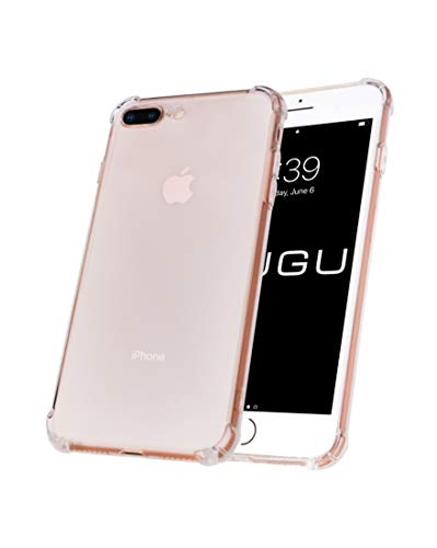 GuGu Case for iPhone 8 Plus and iPhone 7 Plus, New Redesign Crystal Clear Reinforced Shock Absorption Corners & Anti-Yellowing Resistant Technology Case - (Clear)