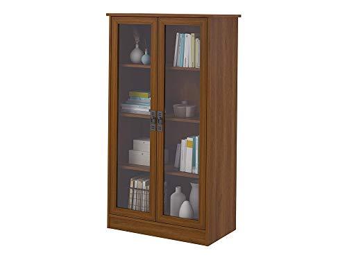 аmеriwооd Hоmе Home Decor Quinton Point Bookcase with Glass Doors, Inspire Cherry