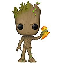 Funko Pop Marvel: Avengers Infinity War-Groot with Stormbreaker Collectible Figure, Multicolor