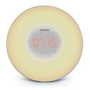 Philips Wake-Up Light with Sunrise Simulation and Radio, Black, HF3506