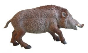 Wild Boar 5 1/2-inch plastic animal - F159 B24
