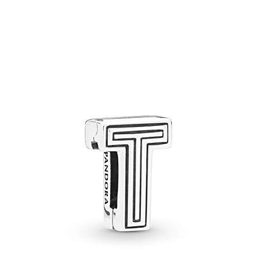 PANDORA REFLEXIONS Letter T Clip 925 Sterling Silver Charm - 798216 (T Charm Pandora)