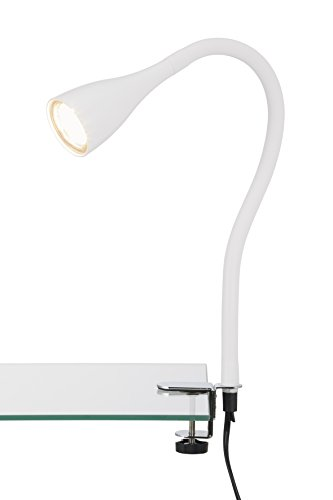 LED Klemmleuchte, Klemmspot, Klemmlampe, Tischleuchte, Anklemmleuchte LED, Tischlampe, Nachttischlampe, Leselampe Bett, Wohnzimmer Tischlampen, Leseleuchte, flexibel