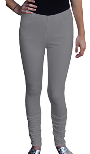 Ayurvastram Cotton Spandex Jersey Extra Long Leggings; Light Grey; Medium