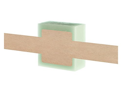 Mr-Label - Etiqueta de jabón de papel kraft natural de 2,54 cm x 20,32 cm – etiqueta de la banda de jabón – para barras...