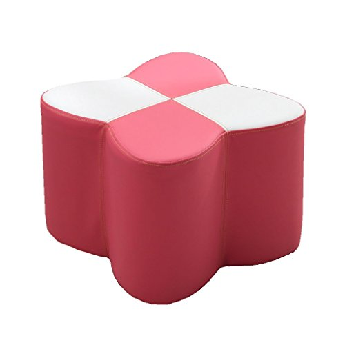 - WZ Ottomans Footstool Ottoman Upholstered PU Luxury Pouffe Change Shoe Stool Butterfly Shape Living Room Bedroom (Color : Pink, Size : 30cmx30cmx20cm)