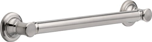 Delta Faucet 41618-SS Traditional Bathroom Safety Grab Bar, 18-Inch, Stainless by DELTA FAUCET