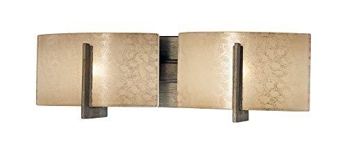 (Minka Lavery Minka 6392-573 Transitional Two Light Bath from Clarte Collection in Bronze/Darkfinish Bar 2, Upc-747396072265)