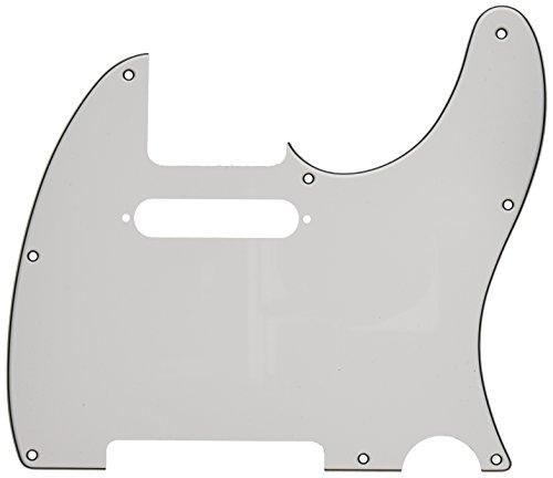 (Fender Modern Pickguard, Telecaster, 8-Hole - White 3-Ply)