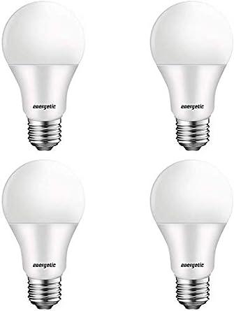 Led Light Bulbs 60 Watt Equivalent A19 Warm White 3000k E26 Base 750lm Non Dimmable Ul Listed 4 Pack Led Bulbs Amazon Canada