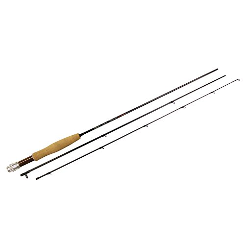 Shu-Fly Trout and Panfish 3 Fishing Rod (3-Piece), Black, 6-Feet x 6-Inch