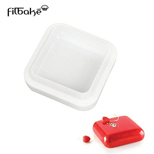FILBAKE Square GEM Shaped Silicone Molds Pan for Muffin Brownie Cake Pudding Jello Chocolate Desserts Ice Cream mold