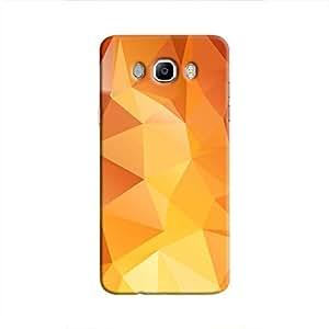 Cover It Up - Orange White Pixel Triangles Samsung Galaxy J5 2016 Hard Case