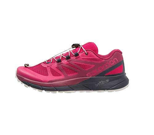 (Salomon Women's Sense Ride Running Trail Shoes Cerise/Navy Blazer/Vapor Blue 9.5)